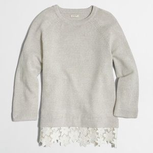 J.Crew sweater with lace detail